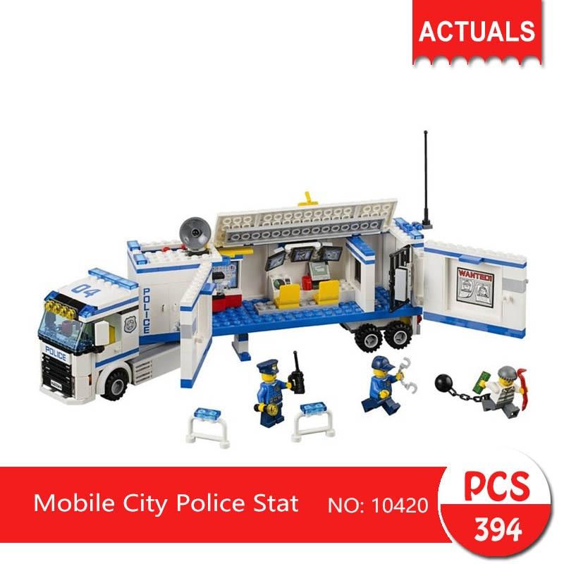 bela 10420 394Pcs City series Mobile City Police Stat Model Building Blocks  Bricks Toys For Children Gift 60032