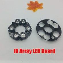 Placa LED infrarroja de visión nocturna para CCTV, carcasa de cámara tipo bala, 20-50 metros, 20mil, 12V de CC, PCB, 90 76mm, 6 uds.