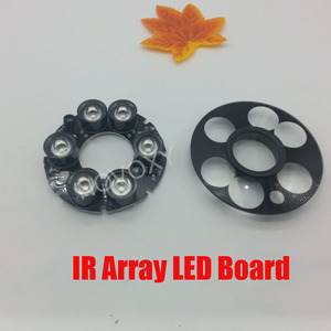6pcs Array LED IR LED Board 20-50 Meters 20mil DC 12V PCB Board 90 76mm Infrared Night Vision for CCTV Bullet Camera Case Casing