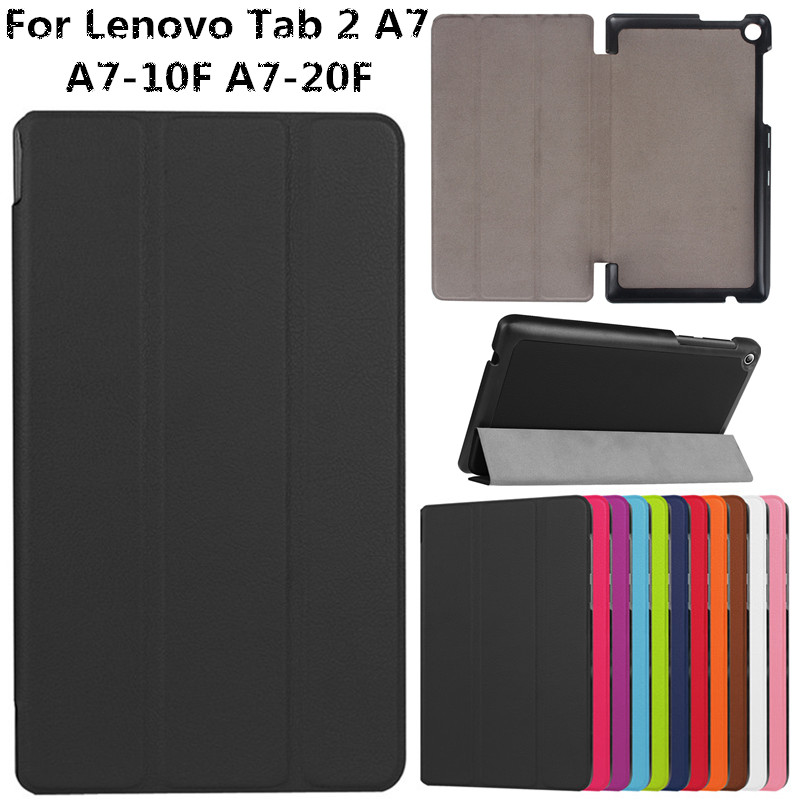 Luxury Business Ultra Thin PU Leather Flip Fundas Coque Case For Lenovo Tab 2 A7 7 A7-20F A7 20 A7-10F A7 10 Tablet Cover Cases for lenovo tab 2 a7 10 a7 10f a7 10f a7