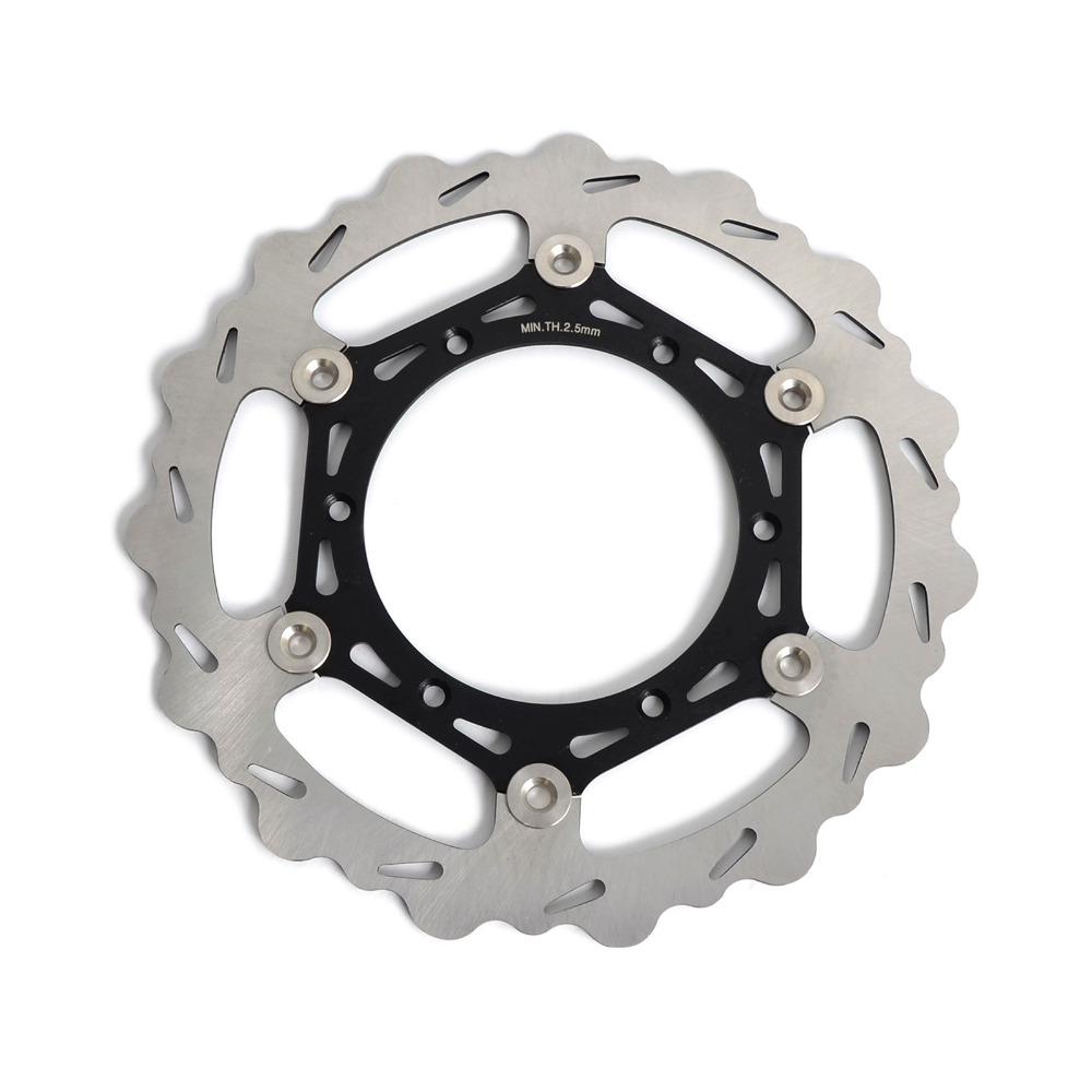 Motorcycle 270mm Oversize Front MX Brake Disc Rotor For Yamaha WR125 WR250 WR250F/400/426F WR450F Motorbike Front MX Brake Disc oversize 270mm front rear brake disc rotor bracket adaptor for yamaha yz 125 250 426 450 f wr125 wr250 wr426f wr450f 98 14 99 00