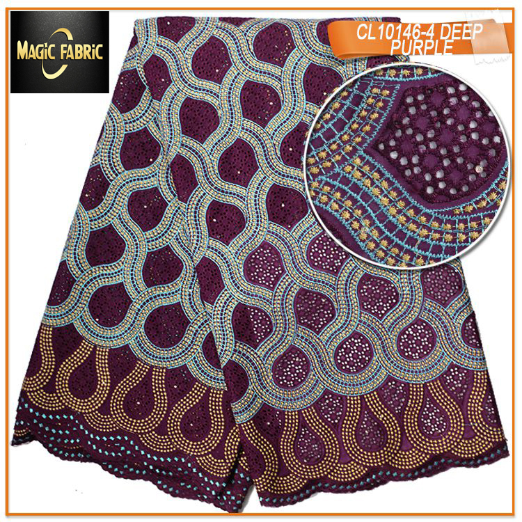 Latest swiss voile lace 2017 swiss cotton voile fabric women lace fabric dry lace for african women dresses with stones CL10146