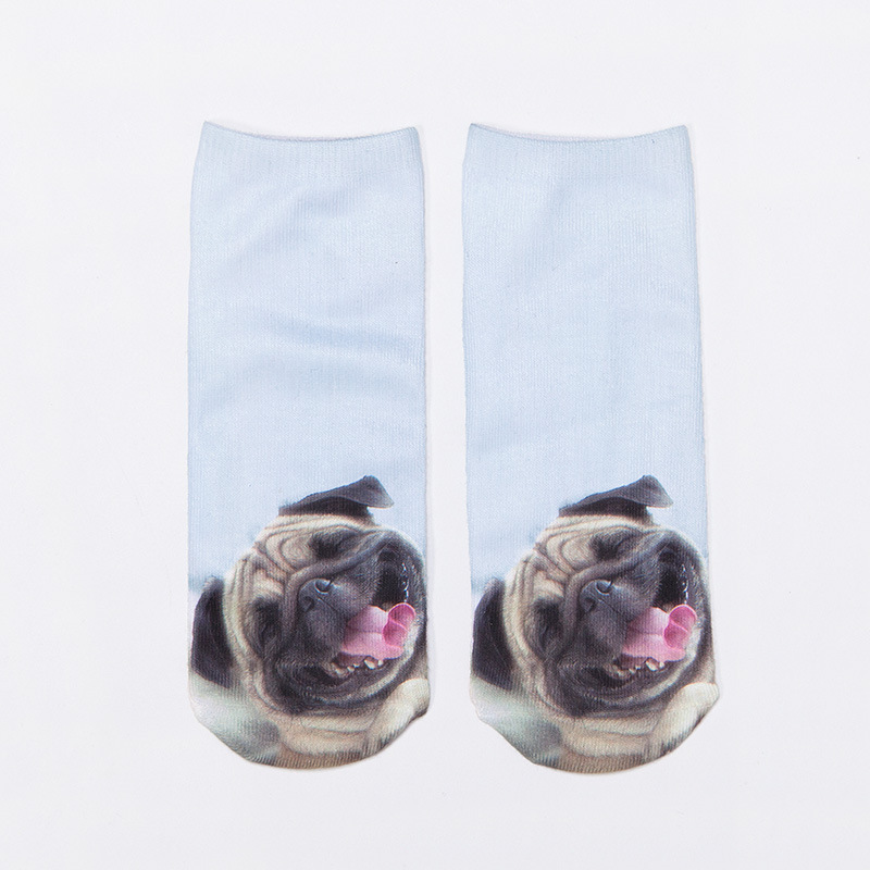 Women Men Multiple Colors Cotton Boat Socks Summer Cute 3D Animal Pug Dog  Husky Printed Ankle Socks-in Socks from Women's Clothing & Accessories on  ... - Women Men Multiple Colors Cotton Boat Socks Summer Cute 3D Animal