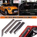 4x Window Rain Sun Guards Acrylic VENT VISOR Eyebrow for 2015 MINI COOPER F55