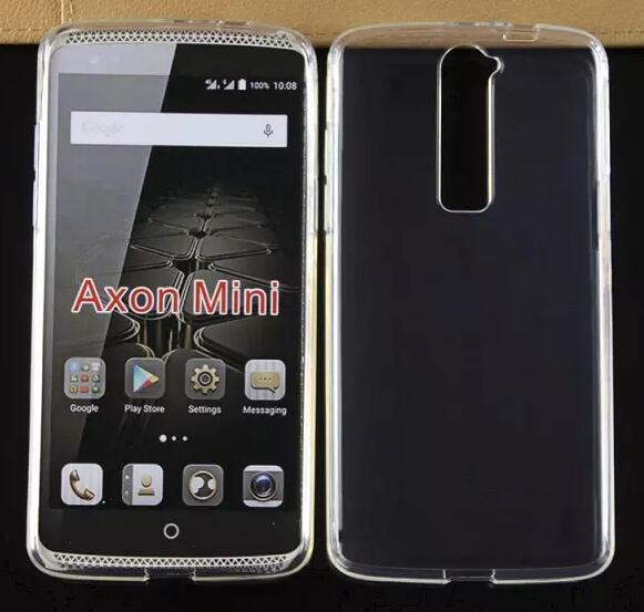 25173e7a7c9a Transparent Crystal Clear Souple TPU Gel Couverture De Peau Pour ZTE Axon  Mini Cas