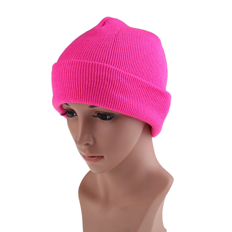 New Fashion Skullies Men's Women Beanie Knit Ski Cap Hip-Hop Solid Color Winter Warm Unisex Wool Hat Beanies LB skullies