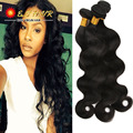 8A Natural Brazilian Body Wave With Closure 3 Bundles Human Hair Weaves With Bang Remy Hair Brazilian Virgin Hair With Closure