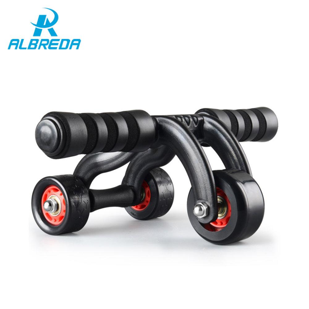 ALBREDA New Abdominal ab wheel Version dual fitness abdomen weight loss drawing sport machine fitness equipment mute