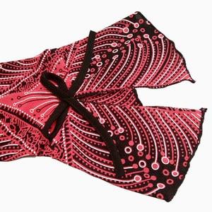 Image 5 - Yitonglian kadın artı boyutu hırka Vintage V boyun dantel çiçek baskı Patchwork bluz uzun kollu tunik üst 5xl 6xl 7xl 8xl H020