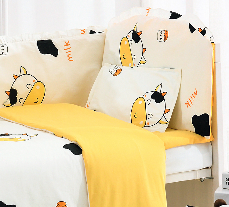 Discount! 6/9pcs Cow Baby Bed Linens baby bedding set 100% cotton curtain crib bumper baby cot sets whole set,120*60/120*70cmDiscount! 6/9pcs Cow Baby Bed Linens baby bedding set 100% cotton curtain crib bumper baby cot sets whole set,120*60/120*70cm