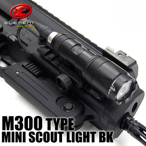 elemento airsoft tactical m300 ex191 mini olheiro luz lanterna rifle de caca luz