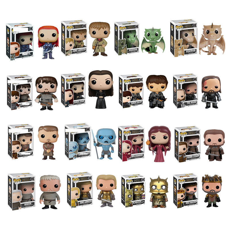 Funko pop Song Of Ice And Fire TV: Game of Thrones-Daenerys Tyrion Night King Bran Jon Snow Action & Figures Toy Children Toys image