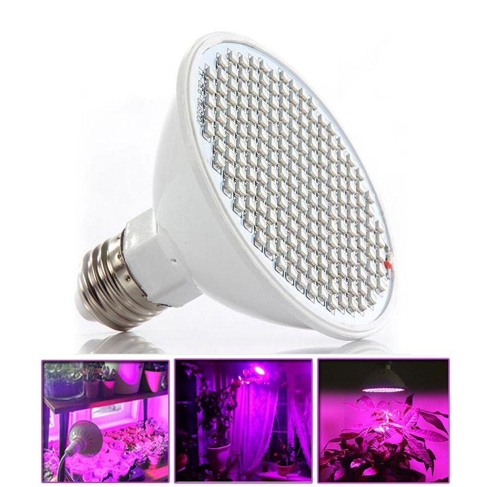 1 Pcs 200 Led E27 Plant Grow Light Bulbs Growing Lights Lamp For Plants Hydroponics Seeding