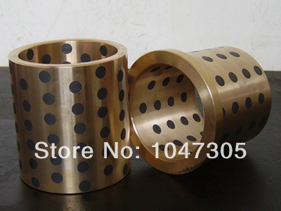 JDB solid lubricating bearings  Graphite inserts  Copper sets copper sleeve  Graphite copper sleeve  JDB12*18*25 jdb 406080 copper sleeve the same size of lm12 linear solid inlay graphite self lubricating bearing