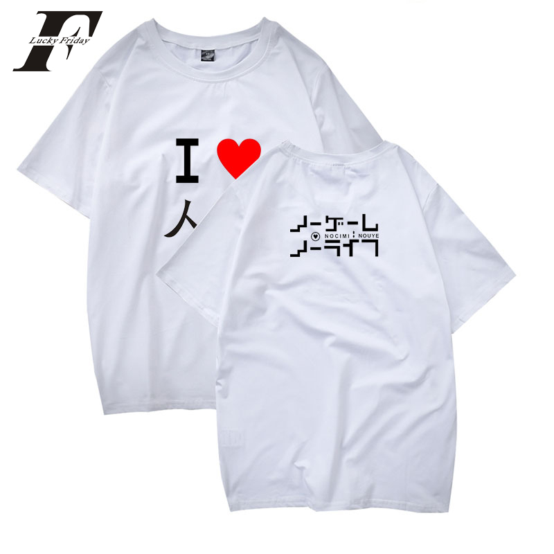 LUCKYFRIDAYF 2018 NO GAME NO LIFE women t-shirts plus size t shirts brand short sleeve t-shirts Casual t shirt for boys