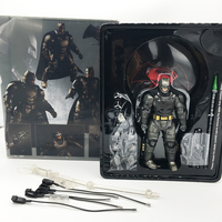 With LED MEZCO Armor Batman One : 12 Collective High Quality BJD PVC Action Figure Toy Birthday Gift for Kids