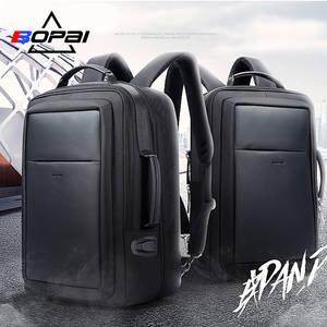 BOPAI Laptop Backpack USB Men Waterproof School bag b1fa87df1de6c