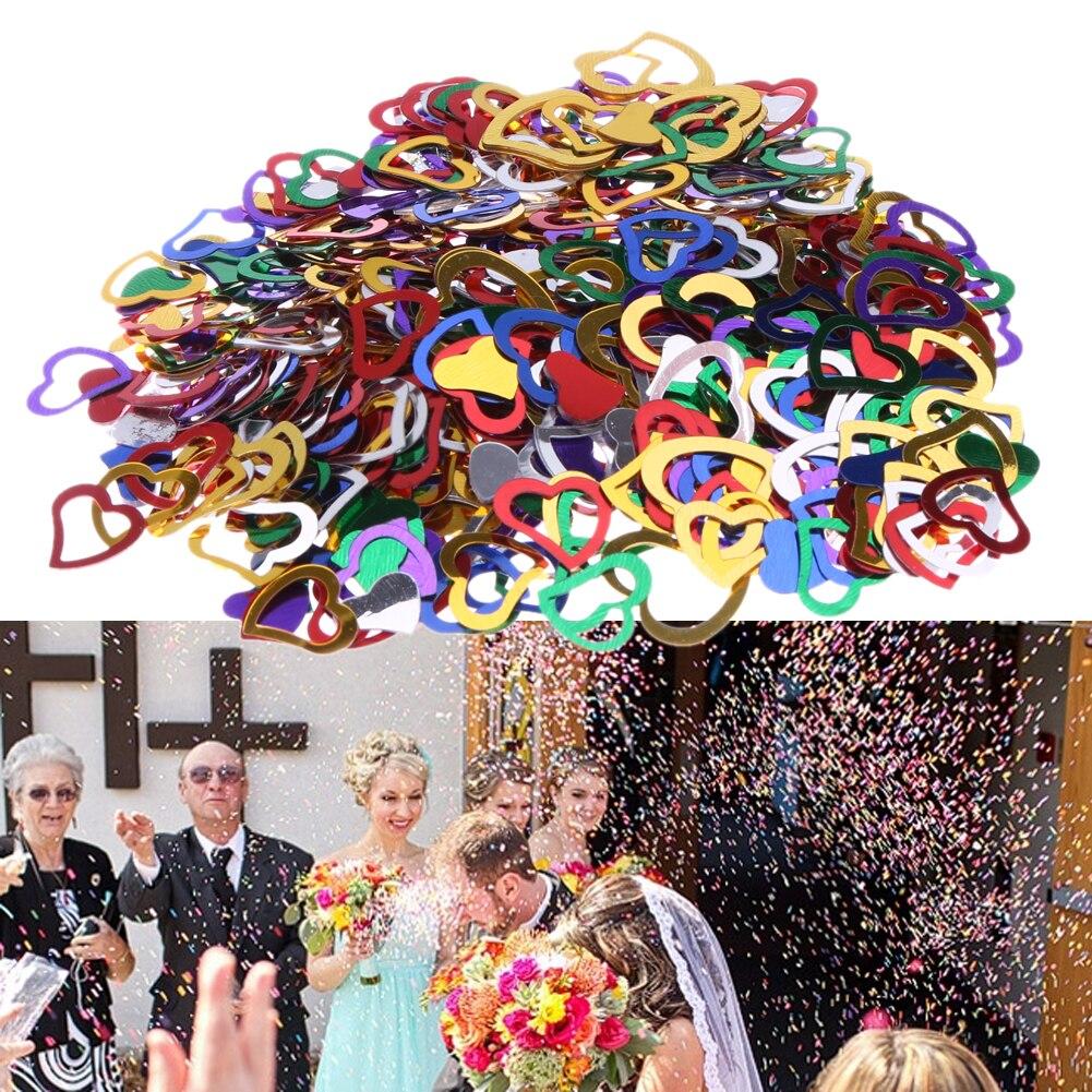 Or Coeur Fête Confetti Dispersion Saupoudrer Décoration de Table Anniversaire Mariage