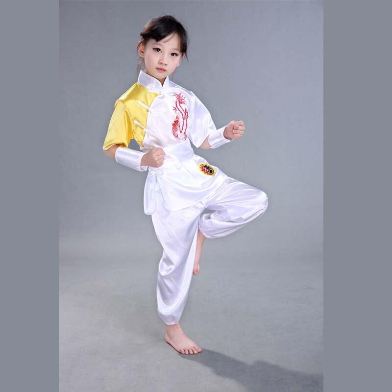 Bjj Kimono Jiu Jitsu  Hot Sale China Traditional Short Sleeve Satin Kungfu Uniform,wushu Performing Uniform With Sashes