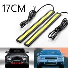 Hot Selling!!!17CM LED COB DRL Daytime Running Light For Cars LED External Lights Waterproof 12V Led Car Styling Auto Light