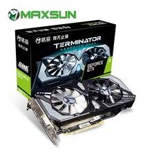 MAXSUN GTX 1660Ti Graphics card Terminator 6G NVIDIA GDDR6 192bit 12000MHz 1500MHz HDMI+DVI 12nm 1536units GTX1660Ti video card