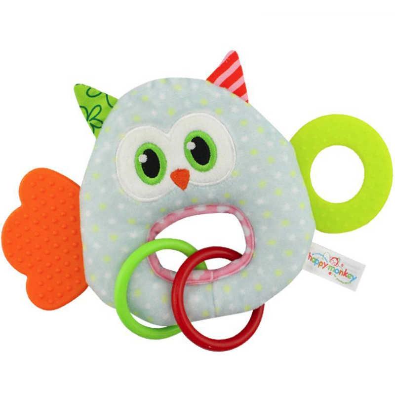 เด็กทารก Plush Rattle ตุ๊กตาของเล่นมือจับ Teethers น่ารักสัตว์ Handbell แหวนทารกแรกเกิด Early Development เด็กผู้หญิงของขวัญ