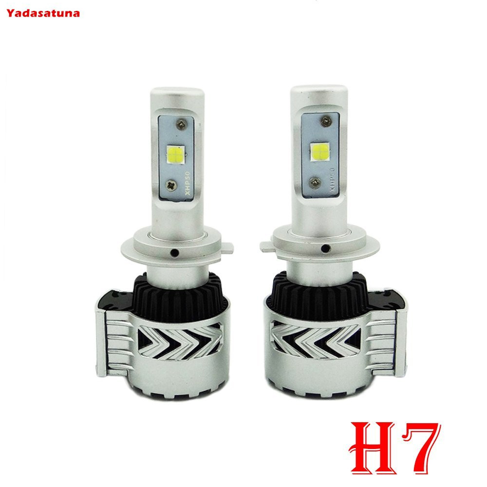 G8 LED Headlight Conversion Kit H7 80W 12000LM XHP 50 LED Chips Built in Fan Heat Sink Pure White 6000K Driving Fog Driving Head