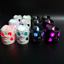 Halloween Decoration Props Neon Lights Party Led Light Accessories Night Rave Festival Skull Haunted House Easter