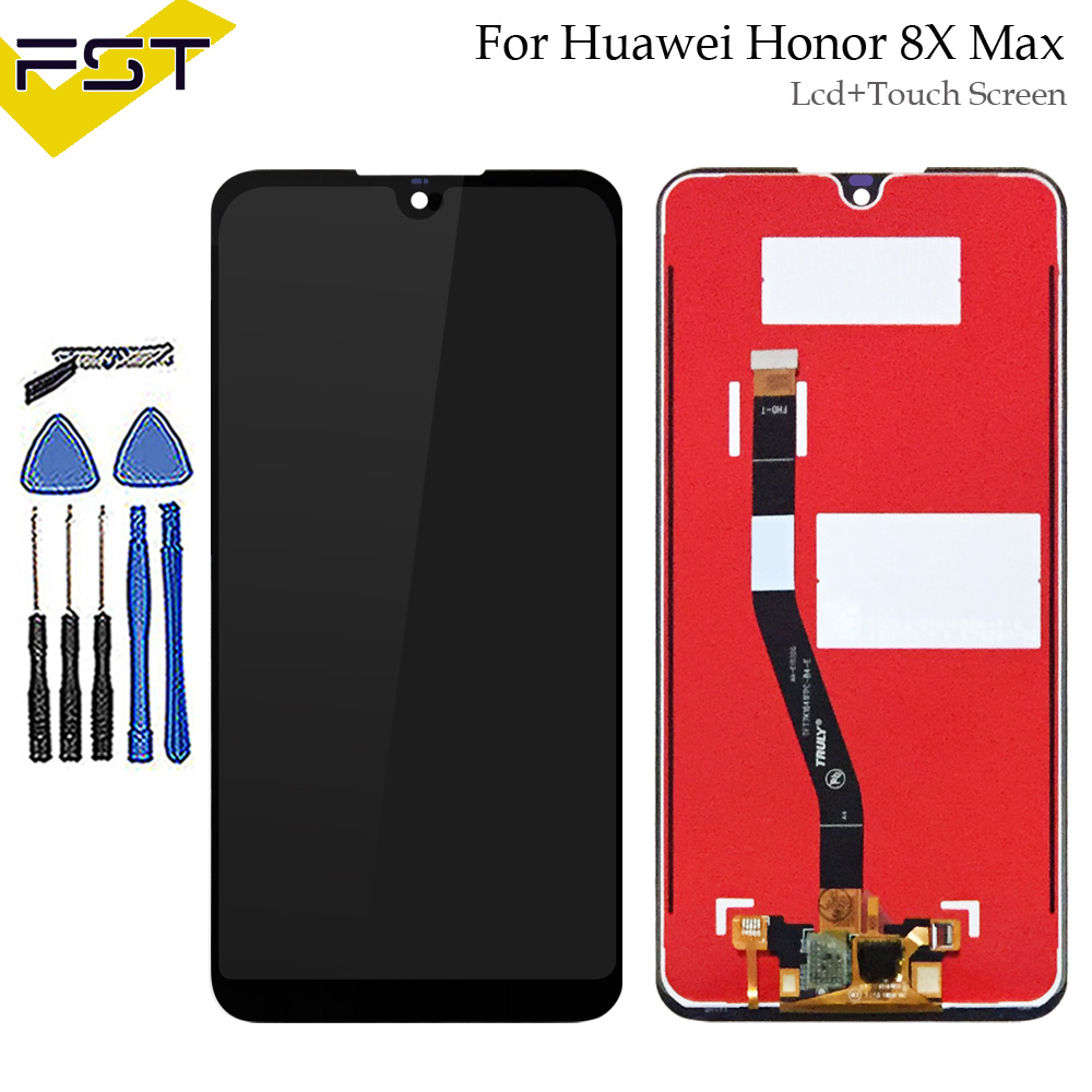 7.12Black For Huawei Honor 8X Max LCD Display+Touch Screen Digitizer Assembly For HUAWEI Glory 8X Max Replacement Parts7.12Black For Huawei Honor 8X Max LCD Display+Touch Screen Digitizer Assembly For HUAWEI Glory 8X Max Replacement Parts