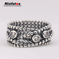 100 925 Sterling Silver Ring With Clear Cubic Zirconia Compatible With Pandora Ring Original Jewelry