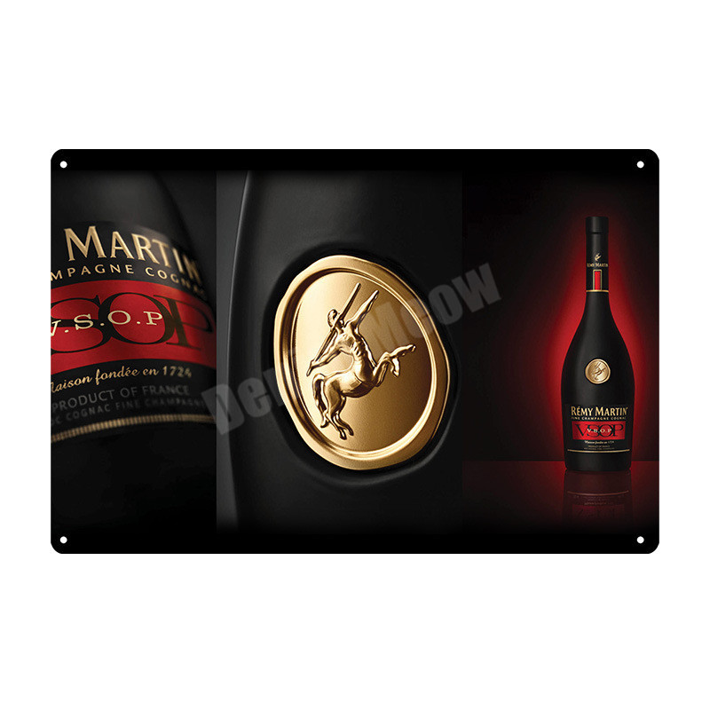 Martin Metal Tin Signs Brandy Wine Vintage Plate Pub Bar Club Kitchen Decoration Champagne Wall Art Posters Stickers Decor MN114 in Plaques Signs from Home Garden
