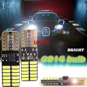 10 шт. 10-13 в 220Lm T10 4014 24SMD светодиодный светильник с поворотным сигналом для автомобиля Универсальный 4,8 Вт автомобильная лампа для чтения задн...