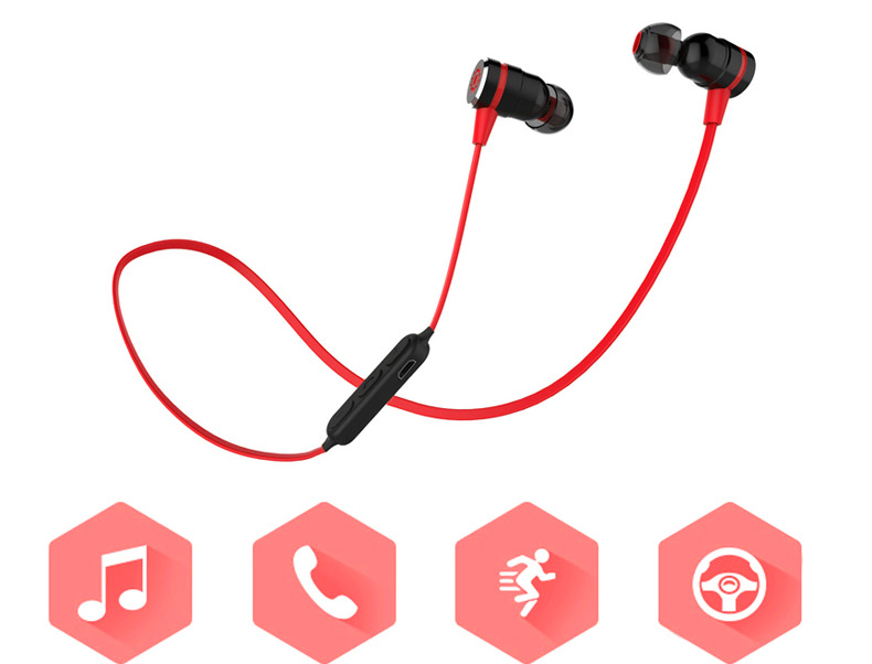 11 Magnetic suction swith mini wireless Bluetooth earphone stereo sports bluetooth earbuds music bluetooth headset with microphone