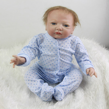 Lifelike Reborn Baby Doll 20 Inch Newborn Babies Silicone Boy Toy Magnetic Mouth Dolls With Clothes Kids Best Birthday Xmas Gift