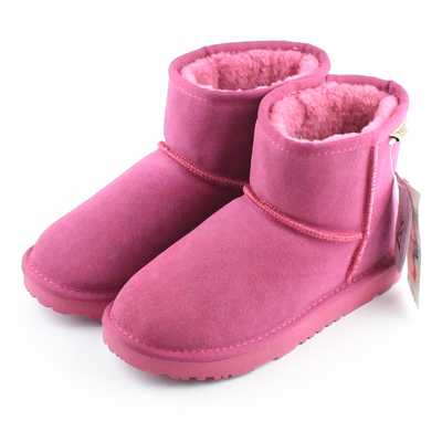 ФОТО New Arrival Fashion Winter Flat Solid Feather With Woolen Cashmere Inside Snow Round Toe Warm Short Ankle Women Boots H7079