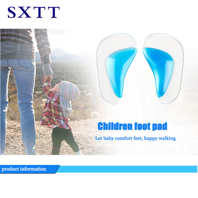 SXTT Insole Of Flatfoot Silicone Pads Arch Support Orthopedic Insoles Gel Pads For Feet Silicone Foot Gel Inserts For Heels