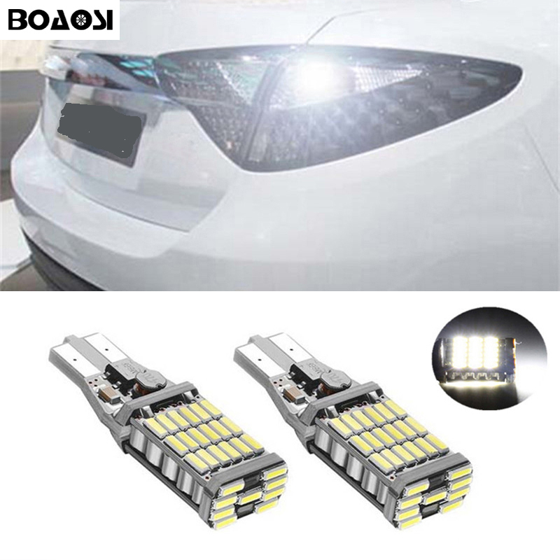 BOAOSI 2x Canbus Error Free T15 Car LED Lights