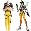 Juego Popular OW cosplay Lena Oxton traje soldado 76 Trazador Trazador cosplay