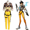 Popular game OW cosplay Lena Oxton Tracer suit soldier 76 Tracer cosplay costume