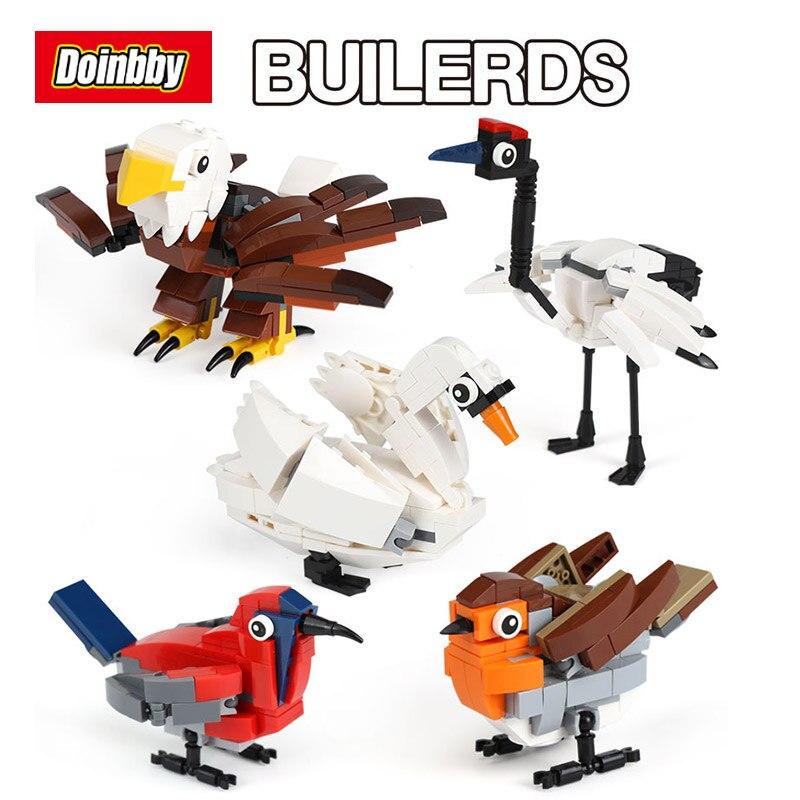 36007 Genuine 545Pcs Creative The HUB Birds Set 4002014 Building Blocks Bricks Educational Toys Compatible Legoings