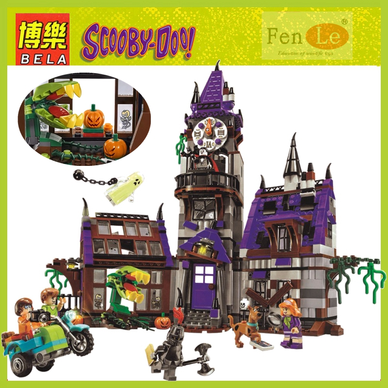 IN STOCK 10432 Scooby Doo Mysterious Ghost House 860pcs Building Block Toys Compatible 75904 Blocks For Children gift-in Blocks from Toys & Hobbies
