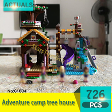 Lepin 01004 726Pcs Friends series Adventure camp tree house Model Building Blocks Set  Bricks Toys For Children Gift 41122