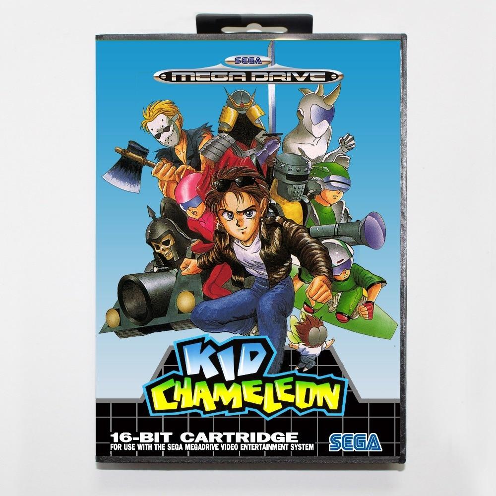 16 bit Sega MD game Cartridge with Retail box - Kid Chameleon game cart for Megadrive for Genesis system