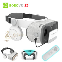 BOBOVR Z5 Surround Stereo 3D Glasses VR Cardboard Helmet Virtual Reality Phone Headset Box For 4