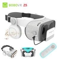BOBOVR Z5 Surround Stereo 3D Glasses VR Cardboard Helmet Virtual Reality Phone Headset Box For 4