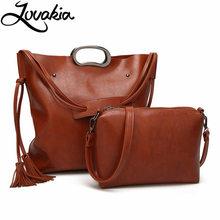 LOVAKIA brand fashion women handbag pu leather totes ladies vintage shoulder bag