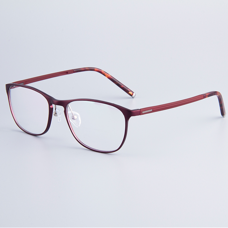 Total Frame Width Glasses : Voguish Women Hydronalium Round Full Rim Glasses Frames ...