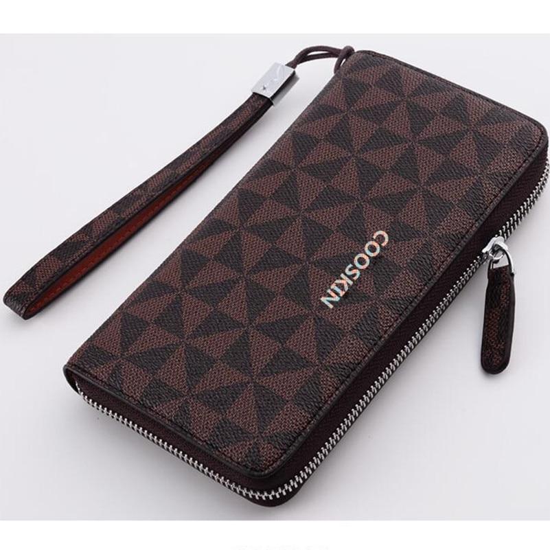 Classic women design zippy wallets monogram canvas Single zipper wallet unisex card holder vintage wallet free shipping