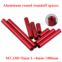 10pcs M3 Aluminum Column Post M3*6/8/10/12/15/20/25/30/35/40/50mm Aluminum round standoff spacer Spacing screws RC Model Parts