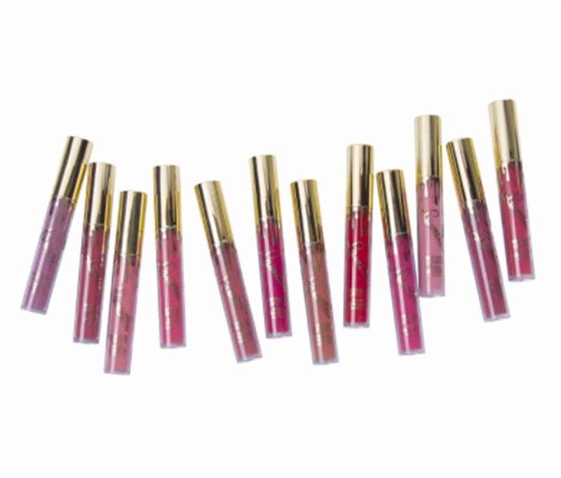 1 Pcs (Ukuran Mini) matte Lipstik Wanita Bibir Makeup Kecil Matt Lip Gloss Membuat Balm Cosmetics Lipgloss Mate Batom Panas